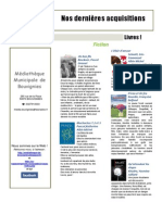 Nouveautés Livres Août2014