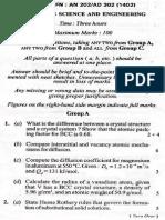 Material Science & Engineering