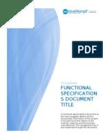 Sample FSD for Digital Commerce