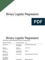 Binary Logistic Regression Lecture 9