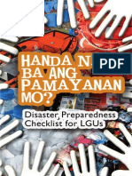 D. Disaster Preparedness Checklist for LGUs