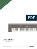 RD-800 Sound List e01 W
