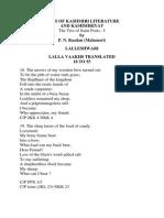 Lalleshwari-gems of Kashmiri Literature