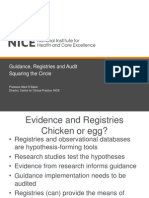 The role of registries and audit in implementing quality standards