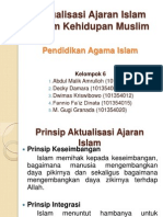 Kel 6-Aktualisasi Ajaran Islam Dalam Kehidupan Muslim