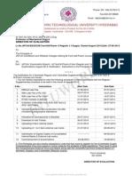 M.tech M.pharm Exam Notification August 2014
