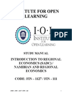 FIN - 1127 Introduction to Regional Economics
