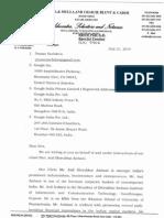 Mulla's Notice to Advocate Pranav Sachdeva and Google