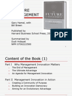 The Future of Management Dudi