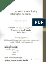 Temperature Measurement During Interrupted Machining