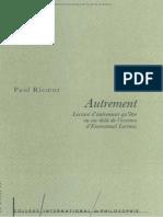 Paul Ricoeur, Autrement