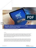 Reusable, Modular, Componentized and Flexible Product Catalog Solution Design