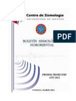 BOLETIN SISMOLOGICO NORORIENTAL