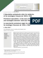 Sexologies Volume 16 Issue 3 2007 [Doi 10.1016%2Fj.sexol.2007.05.002] a. Béjin -- L'Éjaculation Prématurée SelonLesMédecins EtLesSexologues Français de1830 à1960