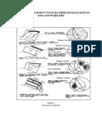 Tabel Penentuan Bobot Untuk Klasifikasi Massa Batuan Pada Software Dips