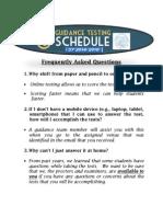 Guidance Test - FAQs