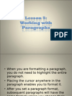 microsoft word tutorial...lesson 5