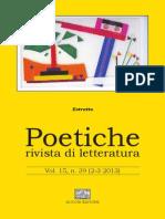 Estratti Poetiche n. 2-3 2013 (anteprime articoli, abstract, rececensioni)