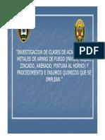 2. Investigación de Clases de Acabados en Metales de Armas de Fuego _(Pavón, Níquel, Zincado_)
