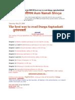 read Durga Saptashati+Aum Namah Shivya