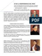 Precursores de La Independencia Del Perú