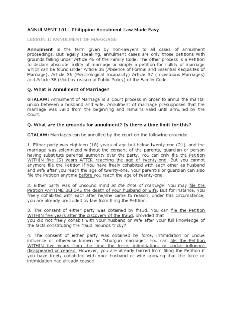 Annulment 101 | Annulment | Marriage