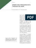 La Espiritualidad Como Dimensión de La Concepción Holística de Salud
