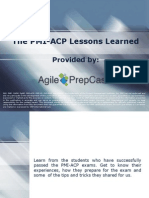 The PMI-ACP Lessons Learned