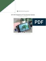 Diy Wifi Raspberry Pi Touch Cam