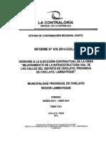 Veeduría - Obra en calles del distrito de Chiclayo - Municipalidad Provincial de Chiclayo