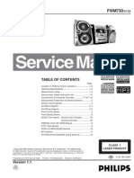 Manual de Servicio Philips FW-M730