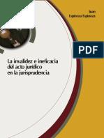 Invalidez e Ineficaia Del Acto Juridico en La Jurisprudencia