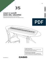Casio PX-135 digital piano manual