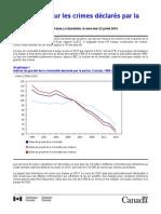 Statistiques sur les crimes déclarés par la police,2013
