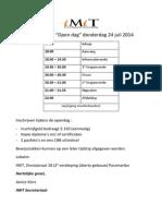 IMIT Agenda Opendag 24jul14
