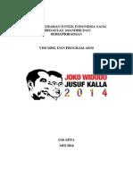 Visi - Misi Ringkas Jokowi-JK 2014