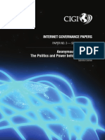 NTERNET GOVERNANCE PAPERS PAPER NO. 3 — SEPTEMBER 2013 Anonymous in Context
