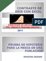 Contrastacion de Hipotesis Con Excel