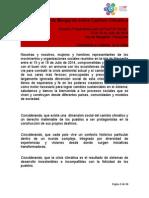 #PreCOPSocial Declaración de Margarita