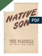 Native Son playbill