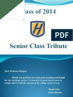 Senior Class Tribute 2014