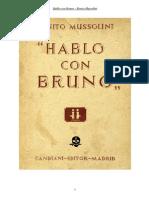 Hablo Con Bruno-Benito Mussolini
