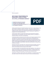 20140723 - PR - 2014 Half-year Results Resilient Cash-flows in a Still-strained Market