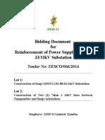 Bid Doc ZESCO06614 Mumbwa Sanje Reinforcement July 2014 Final
