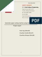 Automatic Paper Cutting Machine Using Microcontroller