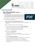 Five Critical Questions 2012