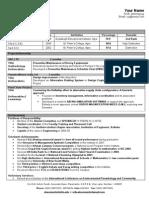 Fresher Format Sample Resume (1)