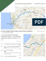 Dadar to Shirdi Driving Instructions
