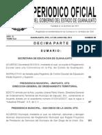 Reglamento Escolar Para Una Convivencia en La Paz Del Estado de Guanajuato