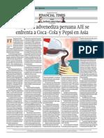 Compañía Advenediza Peruana AJE Se Enfrenta a Coca-Cola y Pepsi en Asia_El Comercio 23-07-2014